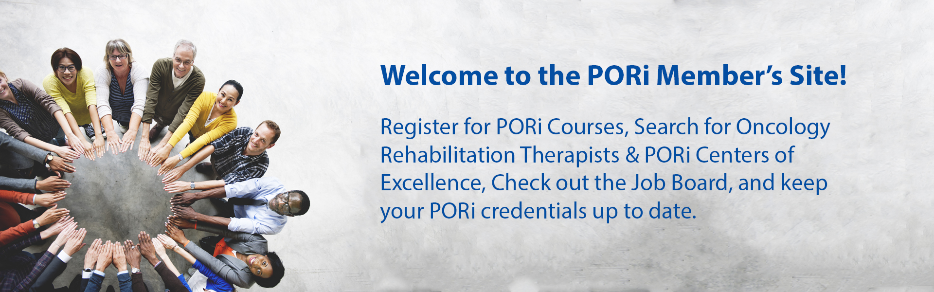 Welcome to PORi Member's Site